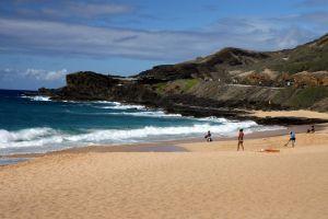 Piaszczyste plaże na Hawajach